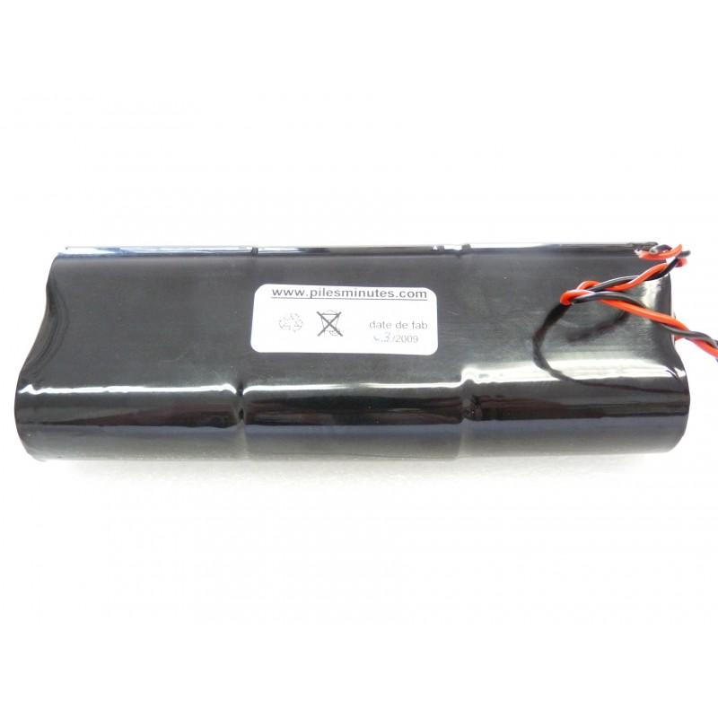 Chrono pile batterie alarme compatible residencia 3 surtec 6lr20 alcaline 9v 18ah - Connecteur pile 9v ...