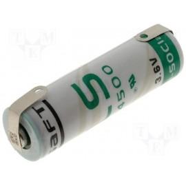 SAFT LS14500 - Pile Lithium - AA - Languettes 3,6V - 2.4Ah