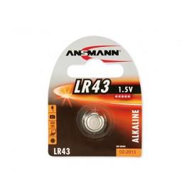 ANSMANN Pile Bouton Alcaline - LR43 - 186