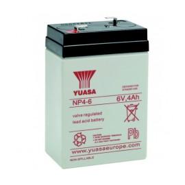 YUASA Batterie plomb - AGM - NP4-6 - 6V, 4Ah