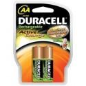 DURACELL HR6 - AA 2000mAh - Blister x 2 - Technologie PRET A L'EMPLOI