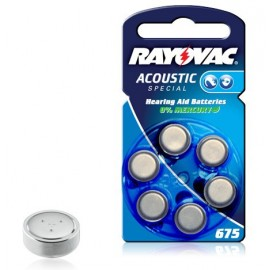 RAYOVAC Pile Bouton Zinc Air - 675AE Acoustic