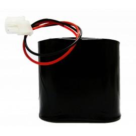 CHRONO Pile Batterie Alarme Piscine Compatible DSP80 - S5 - 2LR20 Alcaline - 3V - 18Ah + Connecteur Blanc