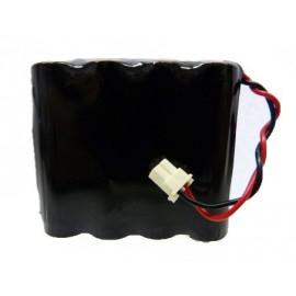 CHRONO Pile Batterie Alarme Compatible SURTEC I@N - AA - 4.8V - 1.5Ah + Connecteur