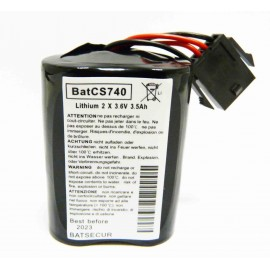 CHRONO Pile Batterie Alarme Compatible VISONIC - 2 x 3,6V - 3,5 Ah + Connecteur Sirène MCS 730 / MCS 740