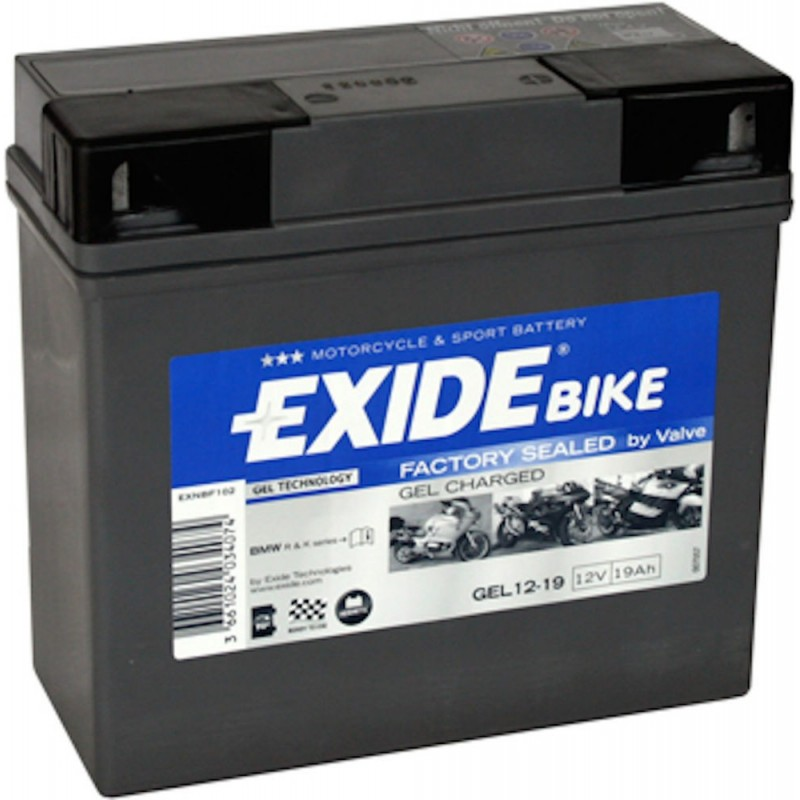 exide batterie moto gel 12v 19ah 12 19. Black Bedroom Furniture Sets. Home Design Ideas