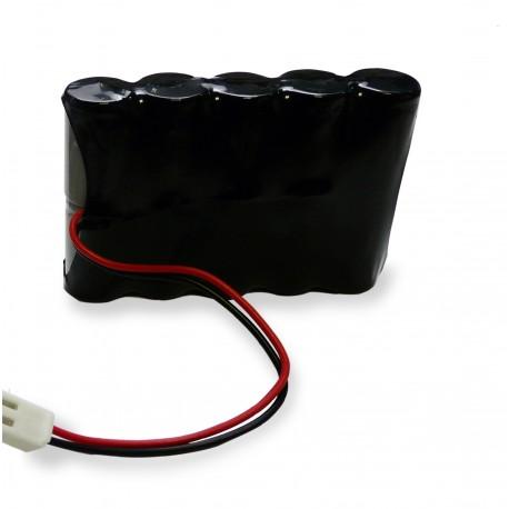 CHRONO Pack Batterie NiCd 12.0V 0.6Ah + Connecteur - MANUSA