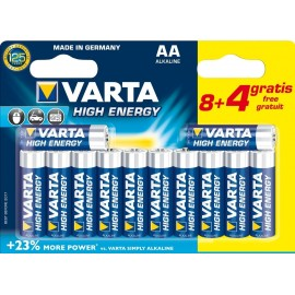 VARTA - LR06 - AA High Energy - Pack de 8+4 piles