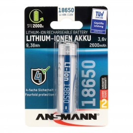 Ansmann batterie Lithium-Ion 18650 - 3.7V 2600mAh
