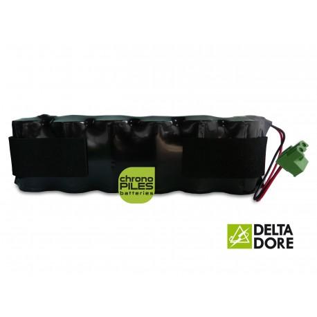 Batterie Alarme TALCO / DELTA DORE Sirène Tyxal - 6LR20 Alcaline - 9V - 18Ah + Connecteur