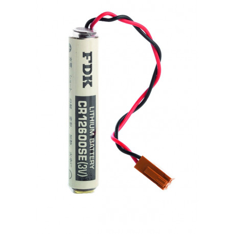 CHRONO Pile lithium CR12600 - 3V - 1500mAh + Connecteur